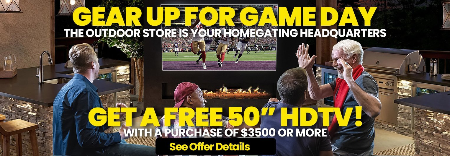 grear up for gameday. the outdoor store is your homegating headquarters.