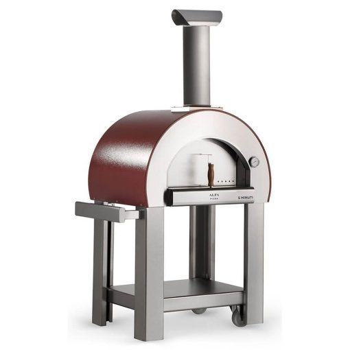 Alfa 5 Minuti Pizza oven on cart