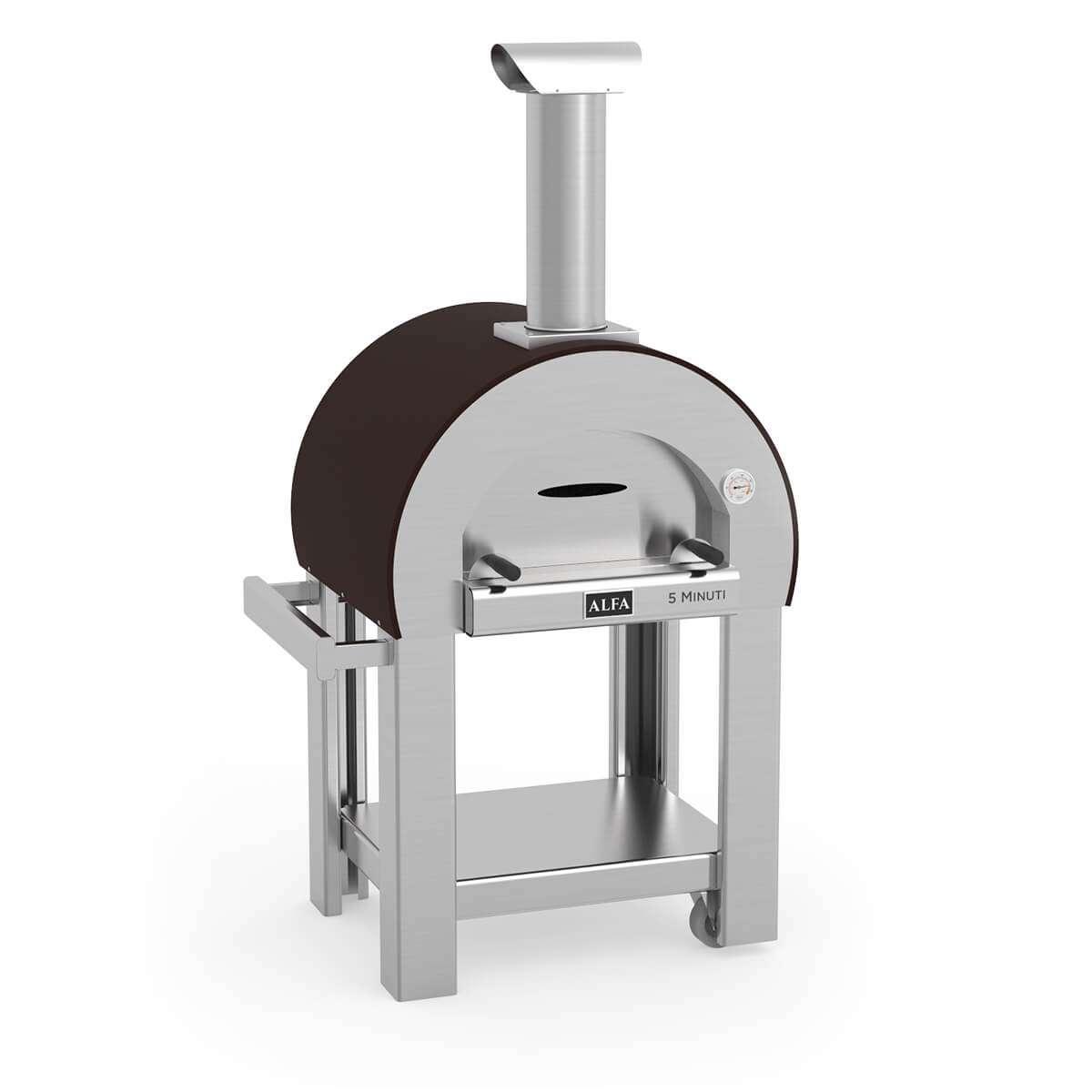 Alfa 5 Minuti Wood-Fired Pizza Oven on Cart- FX5MIN-LRAM-T