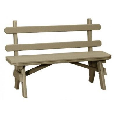 Finch Garden 54-Inch Backed Bench