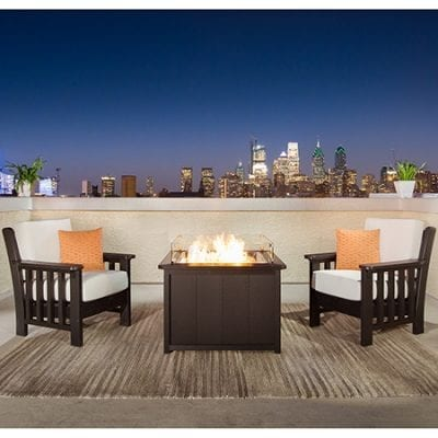 Finch 3-Piece Mission Fire Pit Set
