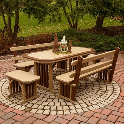 Finch 5-Piece Mission Dining Set