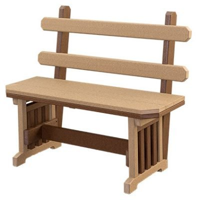 Finch Mission 66-Inch Backed Bench