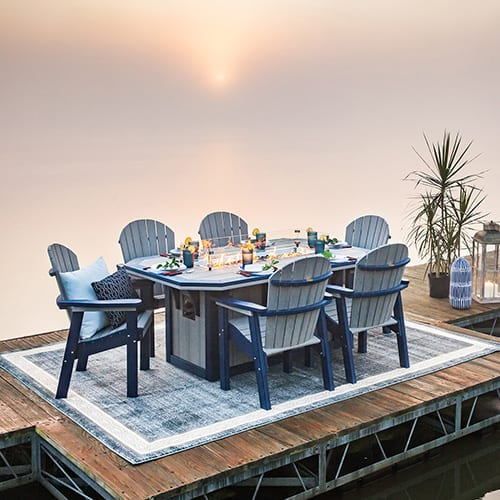 Finch 7-Piece Fire Table Set