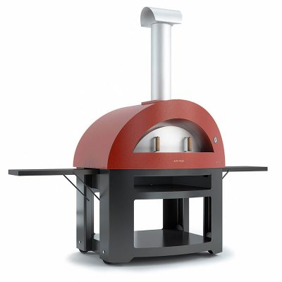 alfa allegro red freestanding pizza oven