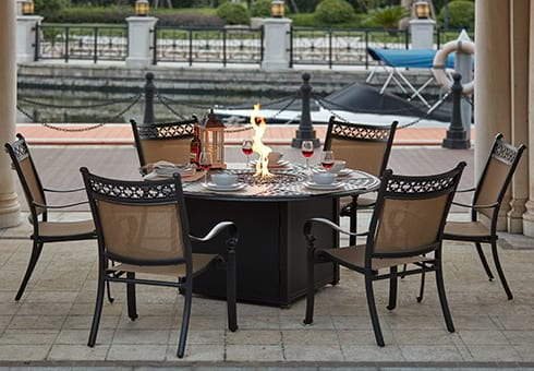 fire pit patio sets
