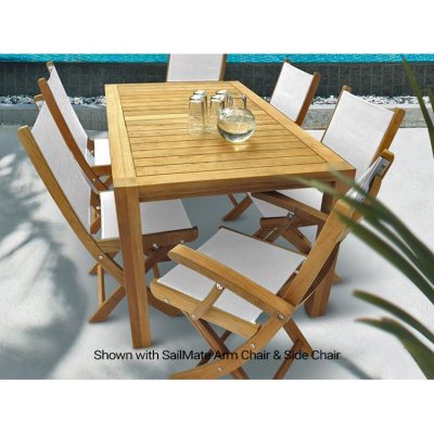 Royal Teak Collection 7-Piece 63-Inch Dining Set