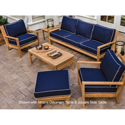 Royal Teak Collection 7-Piece Coastal Conversation Set
