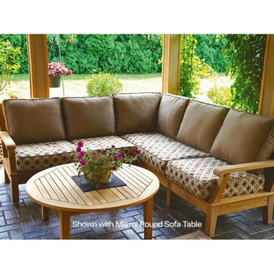 Royal Teak 4 Piece Miami Sectional Set