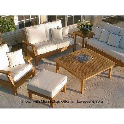 Royal Teak 6 Seat Miami Conversation Set