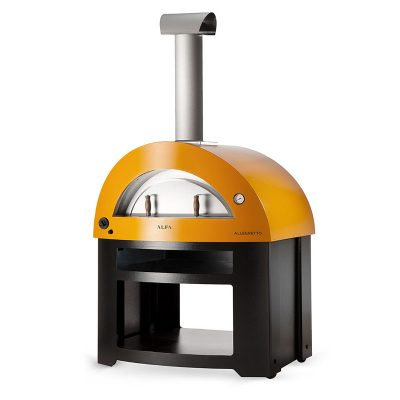 alfa allegro yellow freestanding pizza oven